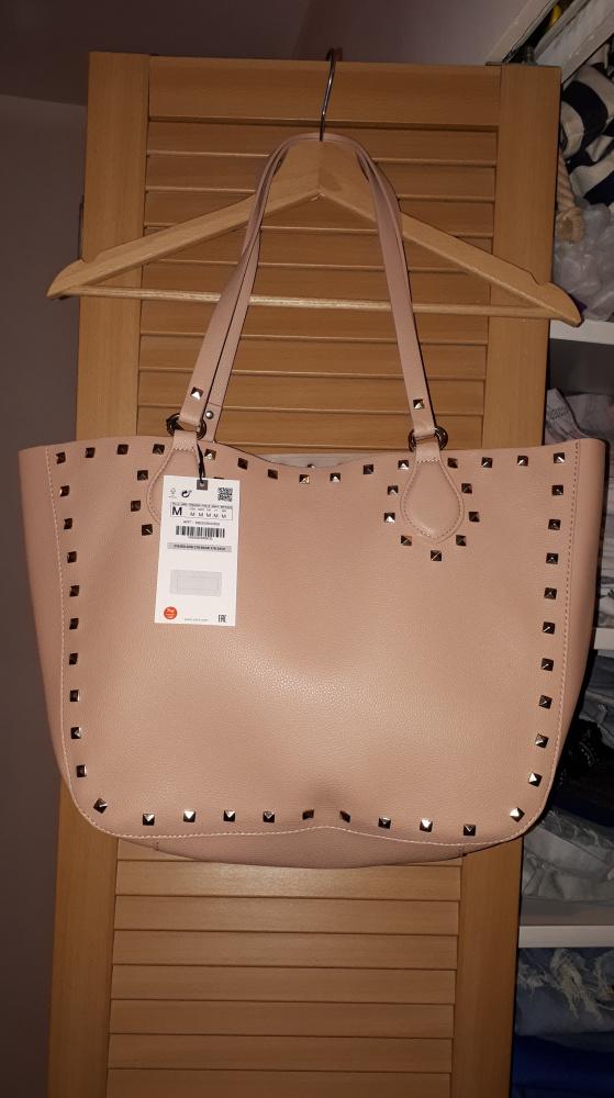 Nowa torba typu shopper z ćwiekami Zara