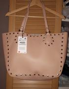 Nowa torba typu shopper z ćwiekami Zara...