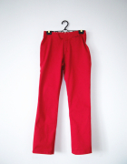 Czerwone spodnie rurki Cross Jeans kolorowe emo punk vintage...