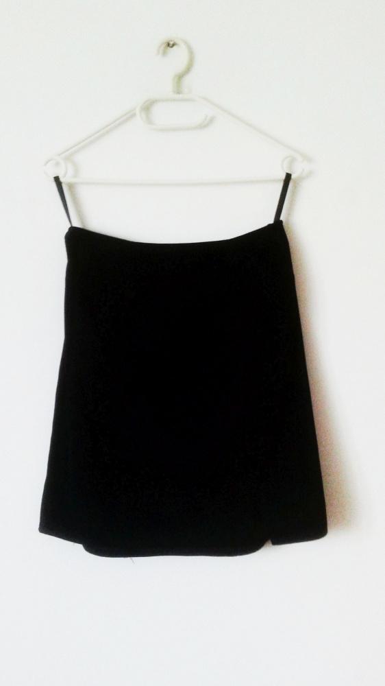 Granatowa spódnica Next z wysokim staniem basic biuro mini