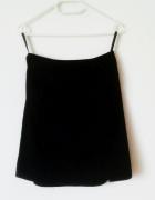 Granatowa spódnica Next z wysokim staniem basic biuro mini...
