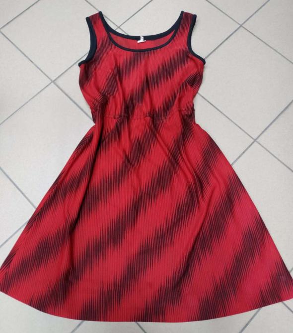Czerwono czarna sukienka 14 42 XL...