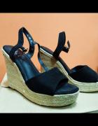 Czarne espadryle sandały 40 L...