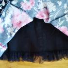 Czarna sukienka kwiaty F&F 42 XL