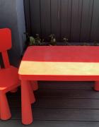 IKEA Mammut komplet czerwony stolik i krzesełko stan DB
