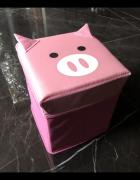Świnka prosiaczek prosiak pojemnik pudełko róż różowy stan BDB