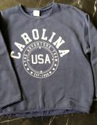 ZARA Kids ciepła bluza granatowa Carolina USA 10 lat 140 cm st BDB