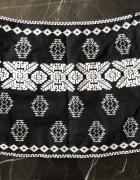 PROMOD spódniczka czarna mini aztec print haft rozmiar S 36 stan BDB