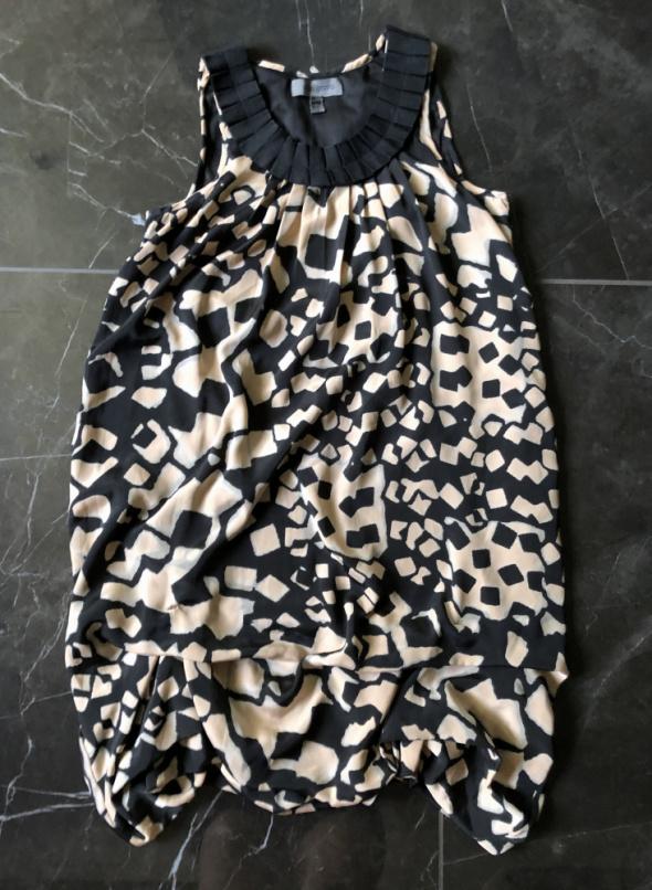 ATTRATTIVO sukienka print łaty czarna nude beż rozmiar M 38 sta...