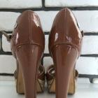 BLINK sandały espadryle szpilki na koturnie słoma rozmiar 38 stan BDB