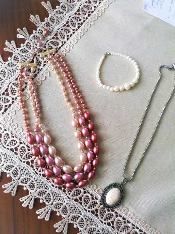 zestaw retro biżuterii vintage stan idealny