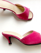 Nowe sandały na obcasie różowe Accent shoes