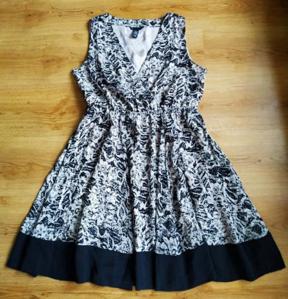 Beżowo czarna sukienka H&M 40 L
