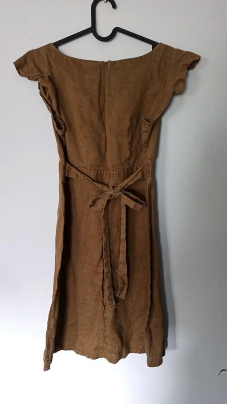 Lekka brązowa sukienka topshop 38...