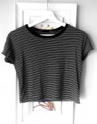 Czarno biała bluzka T shirt w paski ZARA...