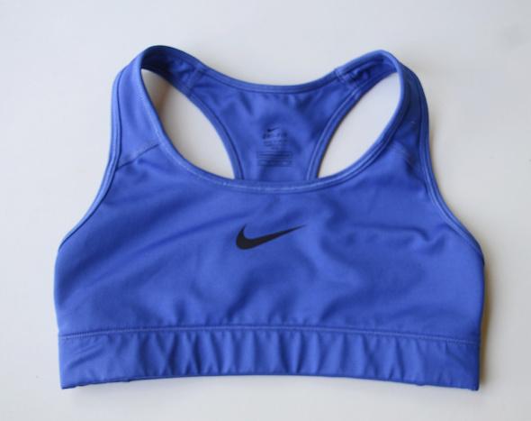 Stanik Sportowy Nike Dri Fir XS 34 Niebieski Biustonosz Top