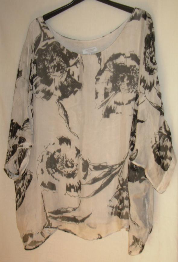 Włoska bluzka oversize jedwab wiskoza 42