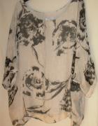 Włoska bluzka oversize jedwab wiskoza 42...