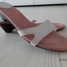 Buty Klapki Kremowe Kwadratowe Noski 38