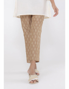 Nowe spodnie indyjskie M 10 38 S 36 brązowe wzór beż salwar sha...