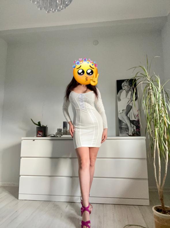 Sukienka biała HouseofCeleb