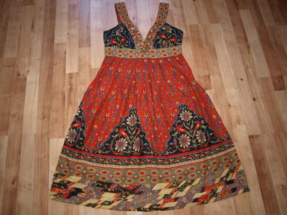 Kolorowa sukienka 42...