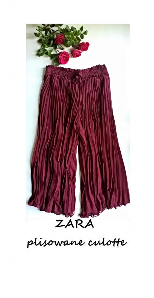 Zara plisowane spodnie typu culotte M L XL kuloty