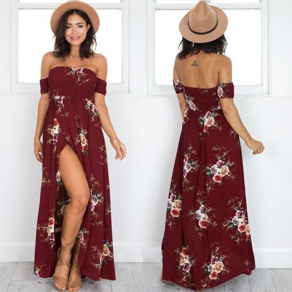 Długa sukienka z rozcięciem...