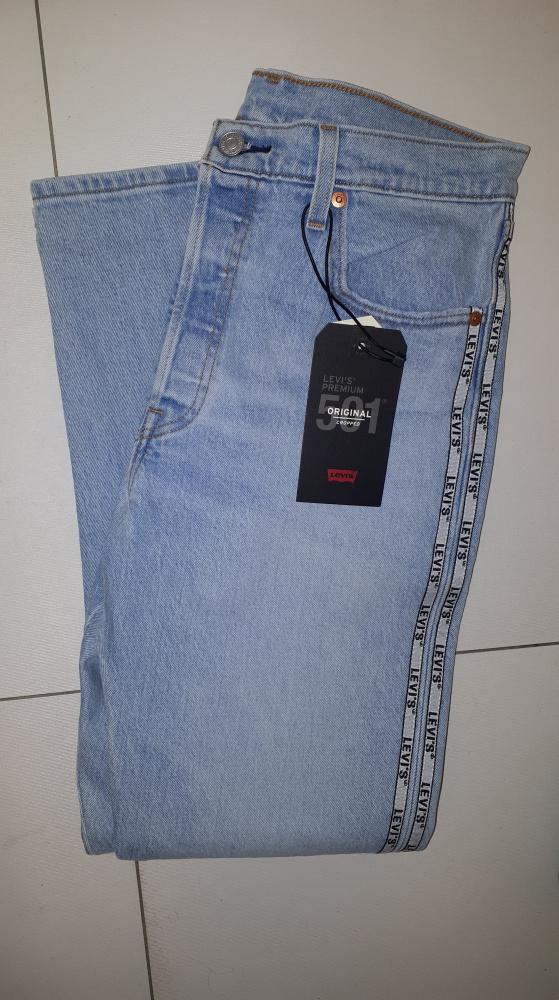 Nowe jeansy Levis 501 CROP Jeansy Straight Leg W29L28