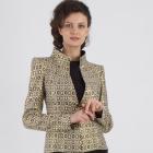 Najpiękniejszy frak damski w złocie i czerni do teatru De Marco