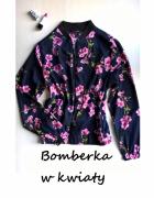 Kurtka bomberka w kwiaty XS S M Atmosphere...
