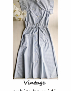 Midi sukienka w paski vintage na guziki S M...