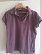 Fioletowa bluzka z kołnierzykiem...