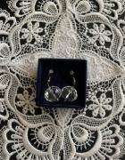 Kolczyki duże owalne kule kryształy Swarovski 18mm