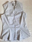Taliowana bluzka bez rękawów 42 H&M