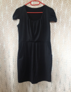 Sukienka mała czarna tulipan M 38 elastyczna S 36 tania...