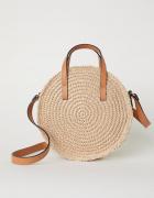 Okrągła torebka torba ze słomki słomkowa h&m zara...