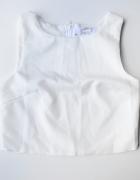 Top Youreyeslie S 36 Biały Nowy Bluzka Elegancka Zip Suwak...