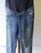 Spodnie Dzinsowe H&M Mama Dziury L 40 Boyfriend Ciążowe...