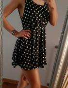 Nowa sukienka czarno biała w grochy M...
