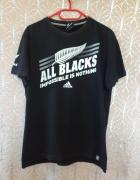 Adidas all blacks impossible is black oryginalna m s l 34 36 38 używana tania koszulka tshirt