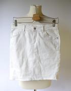 Spódniczka Dzinsowa Biała Jeans M 38 Cubus Jane Skirt...