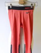 Legginsy Rybaczki Nike Pro Czerwone XS 34 Sportowe...