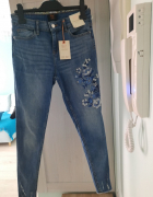 nowe spodnie F&F 36 z pięknym haftem