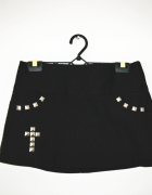 Czarna gotycka krótka spódniczka ćwieki krzyż gothic rockowa...
