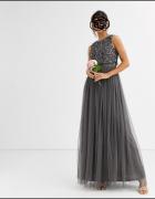 MAYA Sukienka szara tiul 36...