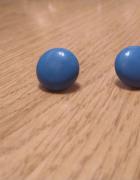 Niebieskie kolczyki wkrętki retro pin up vintage rockabilly...