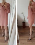 NOWA metka Soft Rebels Zalando sukienka 100 wiskoza z chokerem pudrowa łososiowa 38