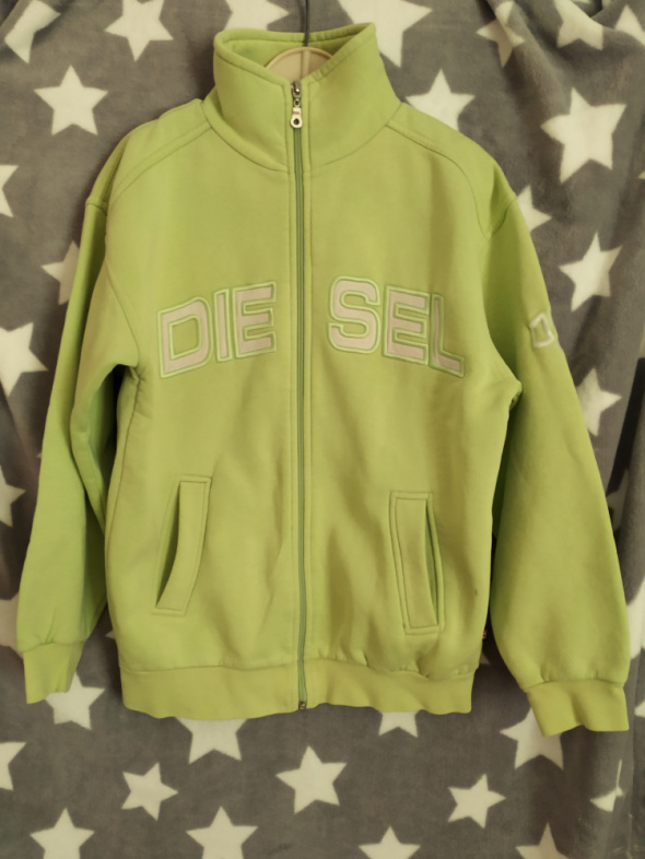 Bluzy Diesel Ciepła bluza dresowa limonka