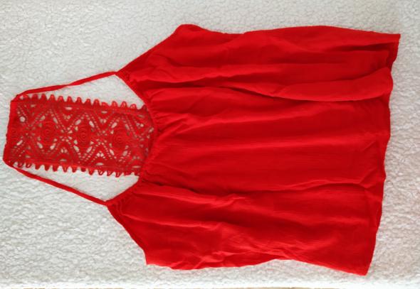 Bluzki Even&odd Bluzka top oryginalny krój koronka